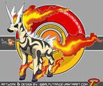 Pokemon Fusion : ZEBSTRIKA x RAPIDASH