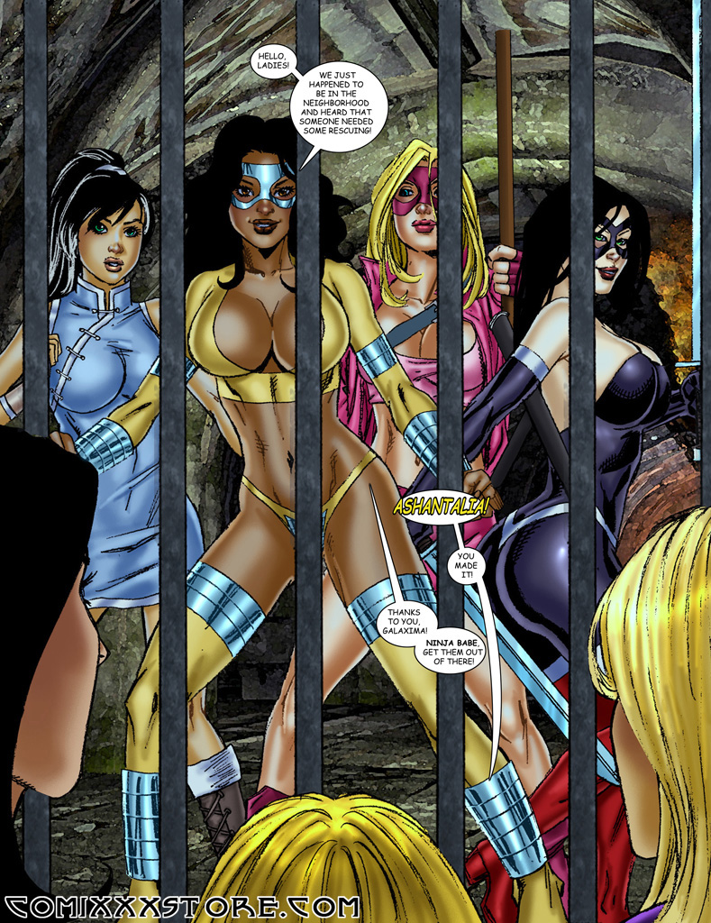 The 9 Superheroines vs Warlord page 21 by Superheroine-Art