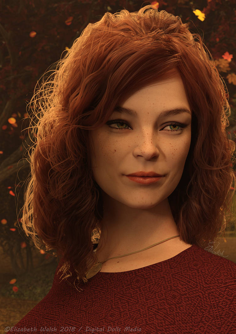 Autumn Portrait by DigitalDollsMedia