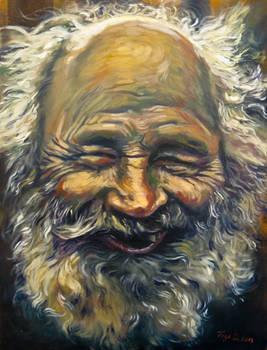 Old men smiling