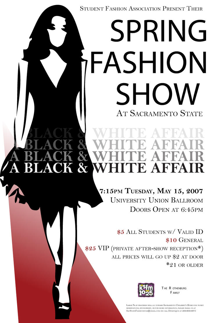 fashion show poster by lightskinnnn38 on deviantart