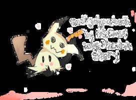 Mimikyu's New Year resolution by Aohowl