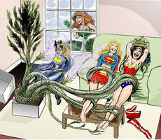 Superheroine's High and Tickled by LaughingGasZone