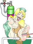 Dental Assistant Tickling Laughing Gas