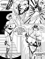 Esha - Superheroine Gassed 1 by LaughingGasZone