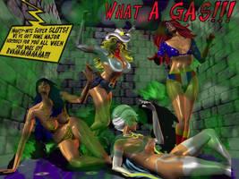 Superheroine Laughing Gas Trap