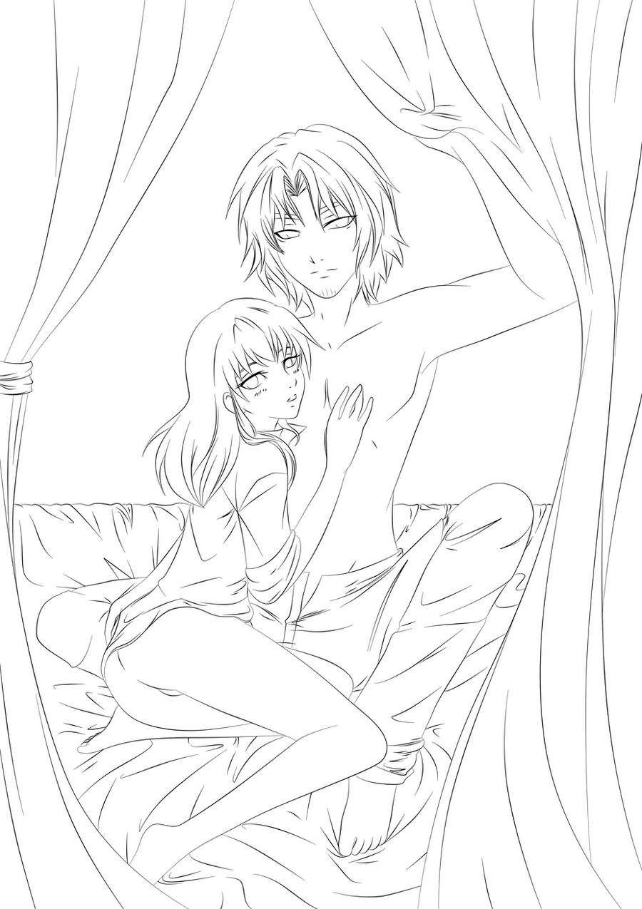 vampire anime coloring pages - photo#21
