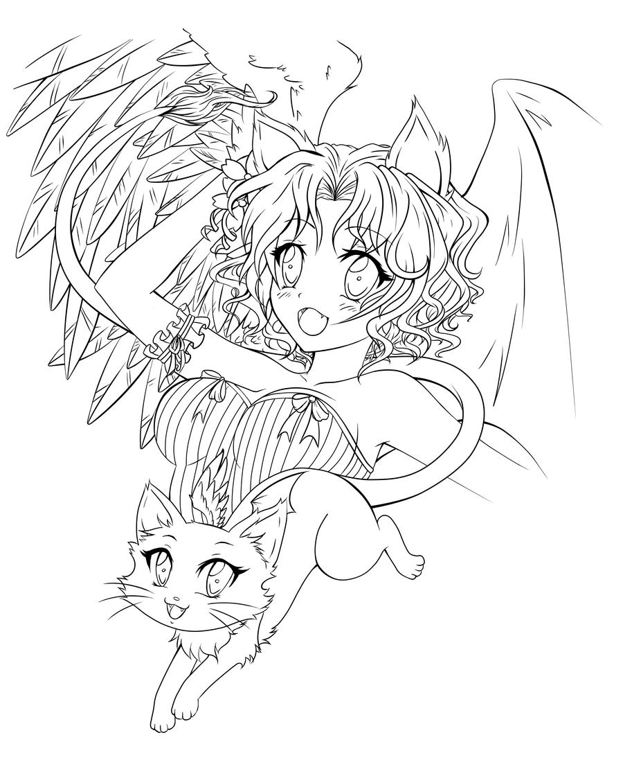anime coloring pages angels - photo#13