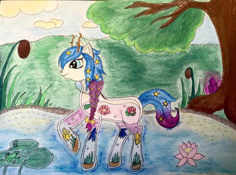 Aquine pony  by SilverLeafPONIES