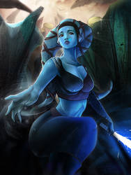 Aayla Secura - Last Breath by Totemos