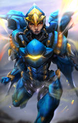 Pharah - Justice rains from above by Totemos