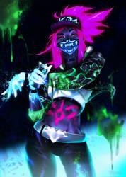K/DA Akali - I'm a goddess with a blade by Totemos