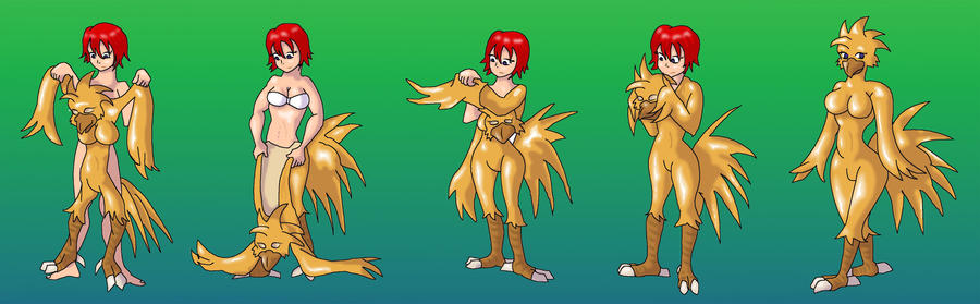 Kairi wears a Chocobo suit by Vytz
