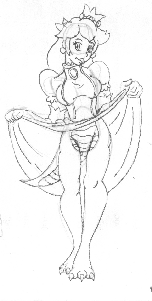 Bowser Peach sketch version by Vytz