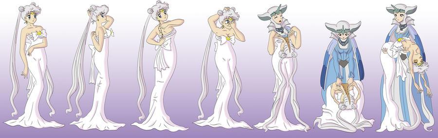 Queen Serenity Unmasking to  Cordelia Gi Rangriz by Vytz