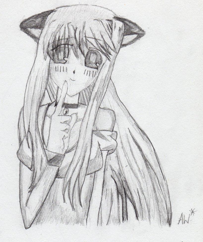 Manga Cat Girl by Roux-bou