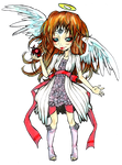 winter angel chibi