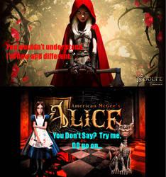 Alice vs Red Riding Hood