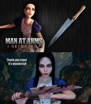 Man at arms Alice's Vopral Blade