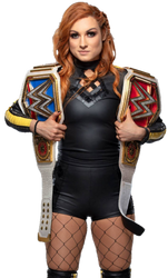 WWE Becky Lynch SD and Raw Women Champion PNG [3] by wweseries120