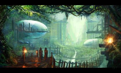 Overgrown Society by SamVerdegaal