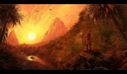 Shaman of the Sun by SamVerdegaal
