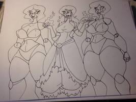 Sketch com beifong bots by Da-Fuze