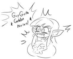 Gay Big Tiddy Goth GF Goblin