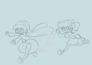Sketch COM Splatoon Callie stink diap by Da-Fuze