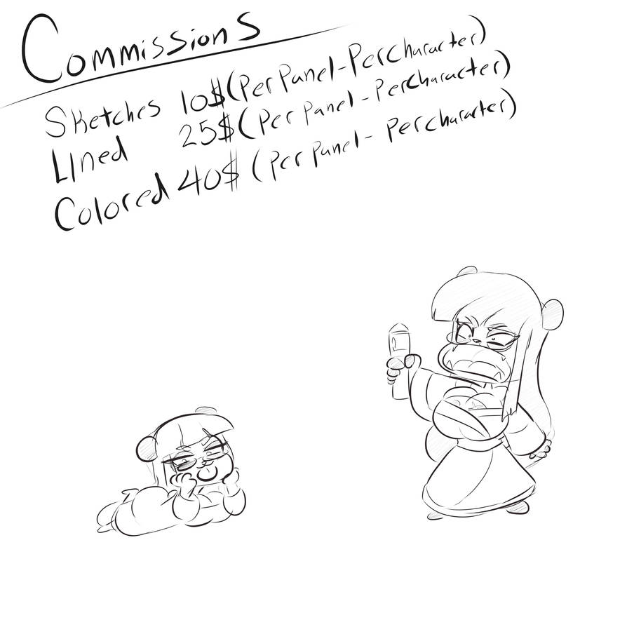 Commission Sheet COMS OPEN NEW PRICES