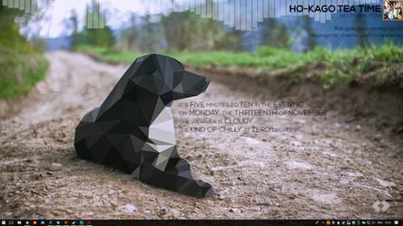 Doggo Minimal Rainmeter Layout