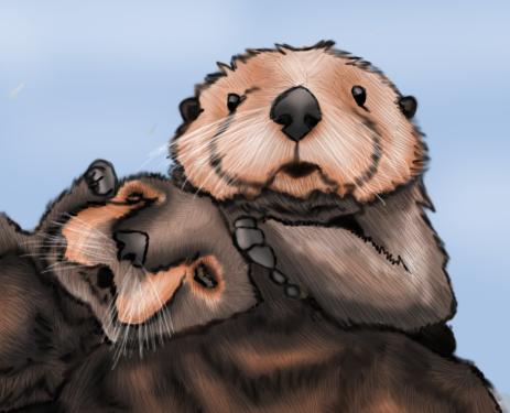 Otter Love by LightningStrikeTwice