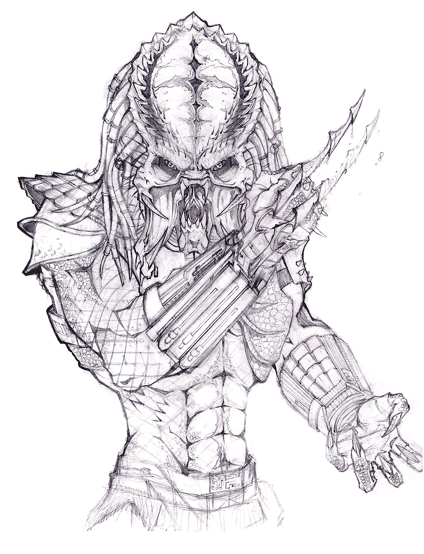 predator coloring pages - photo#16