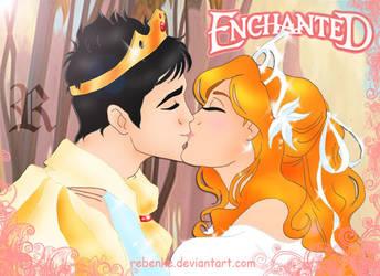 Enchanted II Giselle kisses by rebenke