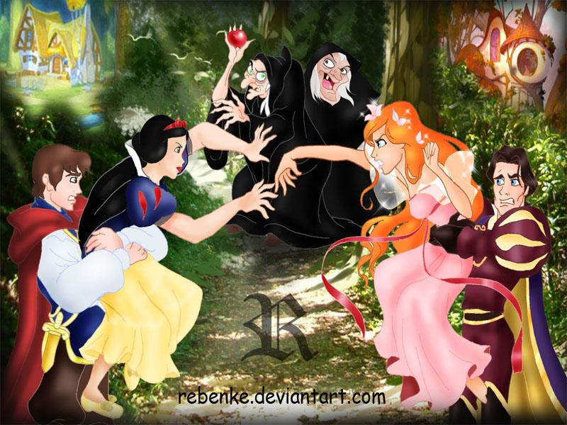 Belles images Disney Deviantart To_fight_for_enchanted_apple_by_rebenke