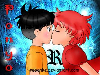 Ponyo and Sasuke by rebenke