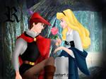 Aurora y el principe Felipe