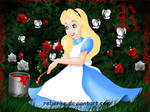 Alice and the red roses