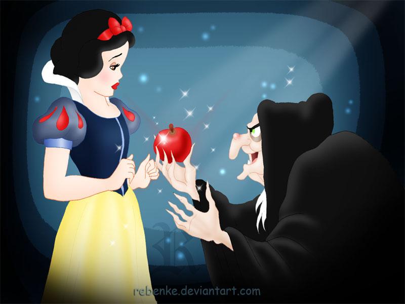 Snow White's apple by rebenke on DeviantArt