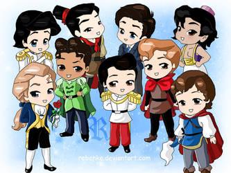 Chibi-Disney Princes by rebenke