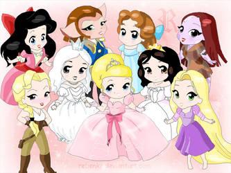 Chibi - disney girls by rebenke