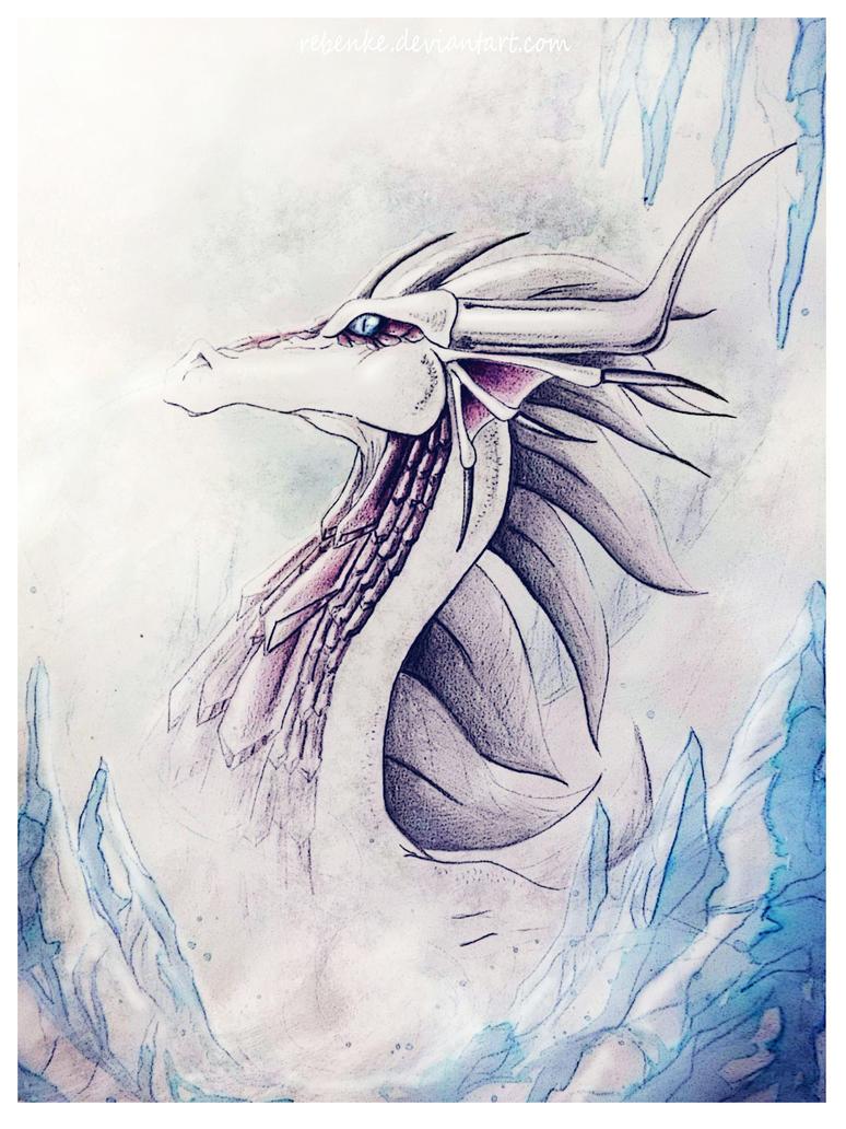 Dragon de hielo by rebenke
