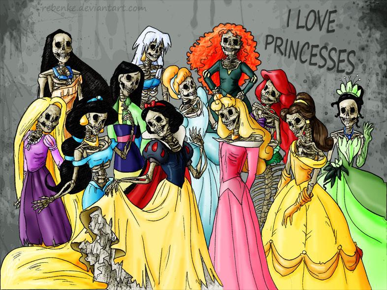 I LOVE PRINCESSES by rebenke