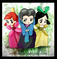 Chibis stepmother and stepsisters
