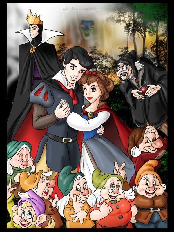 Snow White and the Seven Dwarfs by rebenke