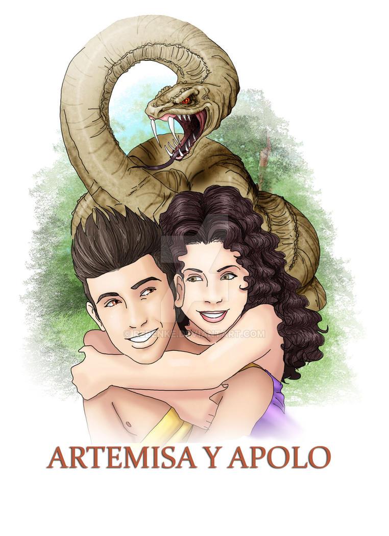 207fe8091a08 Artemisa y Apolo by rebenke on DeviantArt