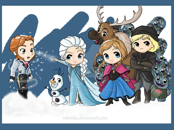 Chibi Frozen by rebenke on DeviantArt