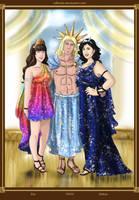 Eos Helios y Selene by rebenke