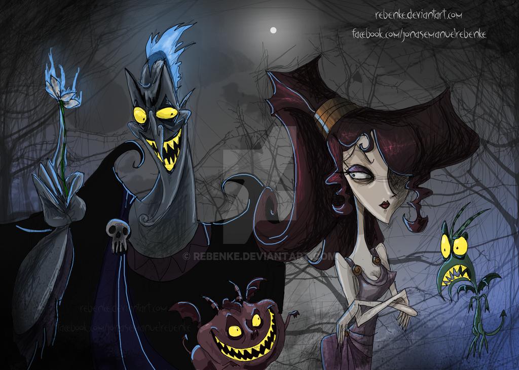 Hades and Megara Burton by rebenke