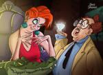 Madame Medusa and Mr Snoops by rebenke